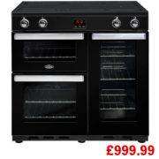 Belling Cookcentre 90EI Black Induction Range Cooker