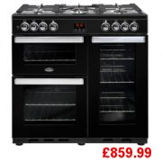 Belling Cookcentre 90G Black Range Cooker