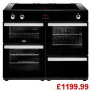 Belling Cookcentre 110EI Black Induction Range Cooker