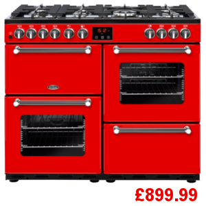 Belling Kensington 100DFT Red Range Cooker