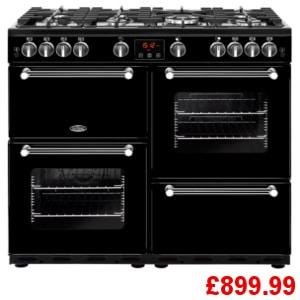 Belling Kensington 100G Black Range Cooker