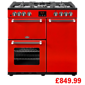 Belling Kensington 90DF Red Range Cooker
