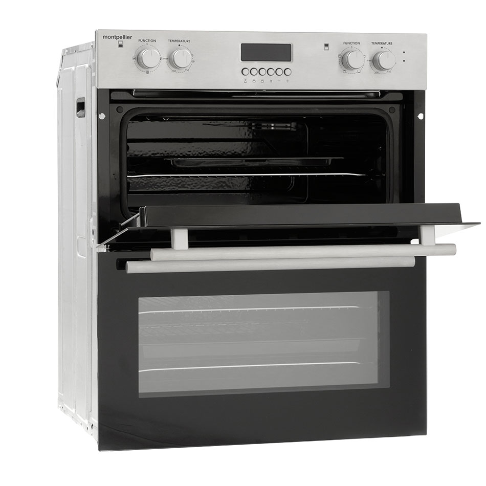 Open Oven In Kitchen: Montpellier MDO70X Double Oven