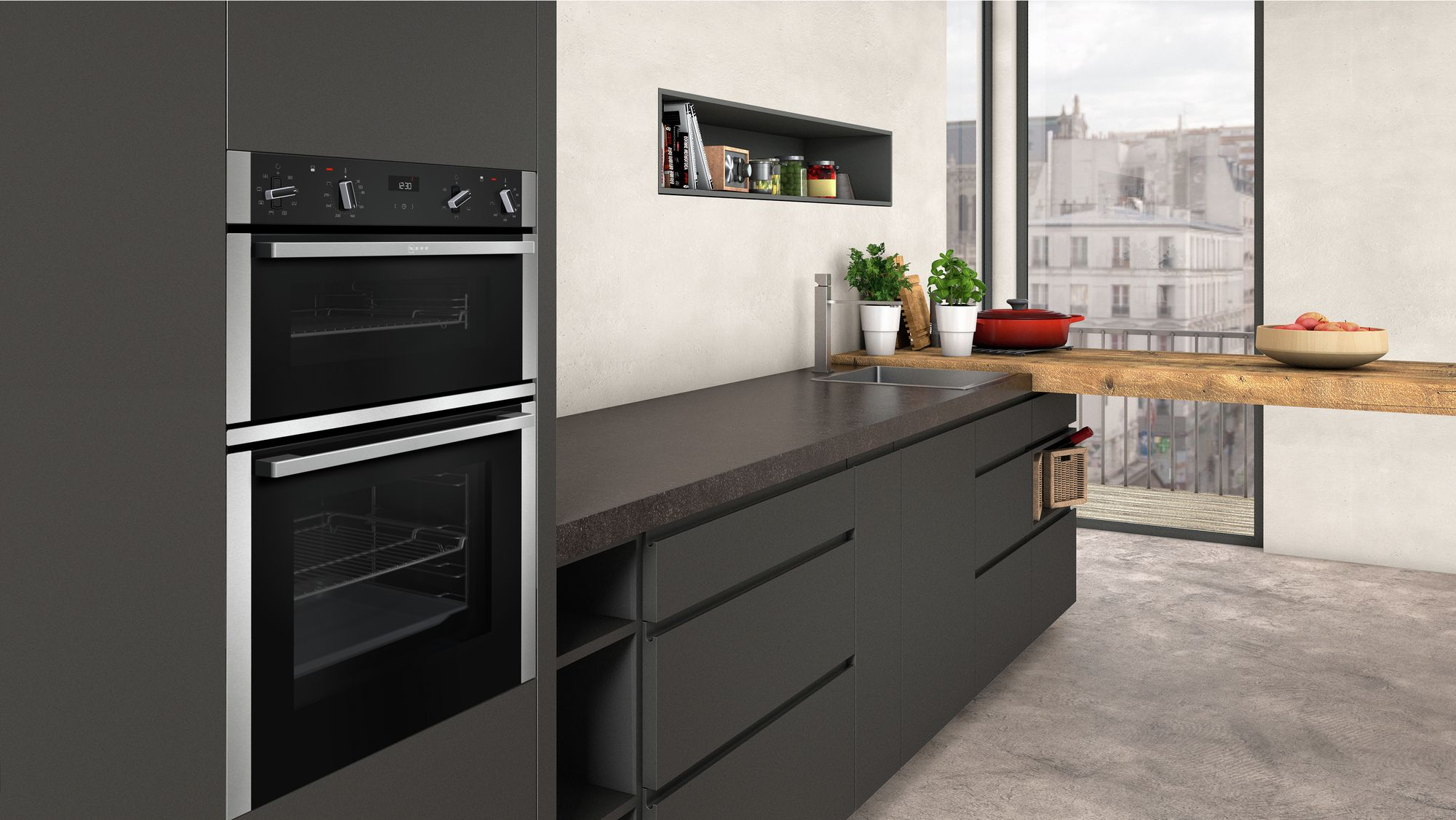 Neff U1ace2hnob Double Oven Direct Discounts Kitchen