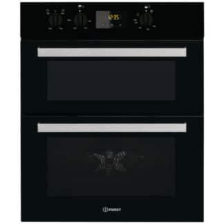 Indesit IDU6340BL Built Under Double Oven